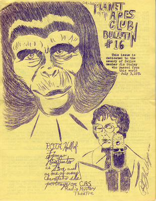 Planet of the Apes Club Bulletins - 1975-1976