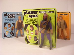 3 packaged Mego action figures